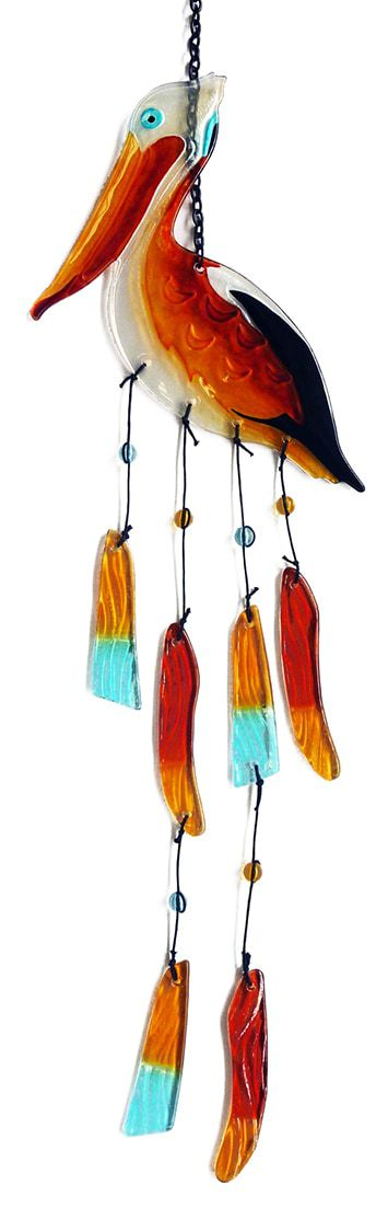 Pelican Glass Wind Chime 2