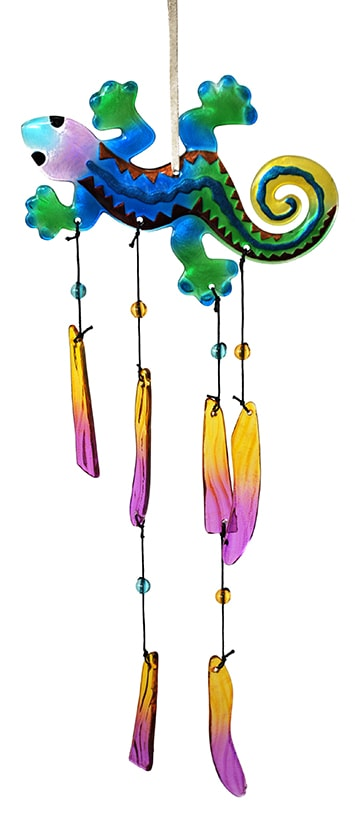 Hummingbird Glass Wind Chime 2